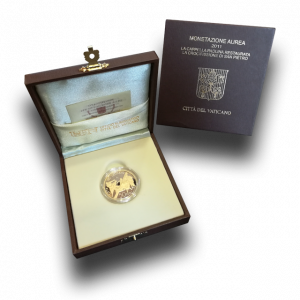 15 g, Pontificate of Pope Benedict Gold Coin - The Crucifiixion of St. Peter, 2011