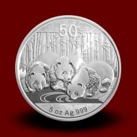 155,65 g, Srebrni KItajski panda / Chinese Panda Silver Coin