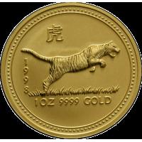 31,162 g, Australian Lunar Gold Coin - tiger (1998)