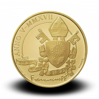 15 g, Pontificate of Pope Francis Gold Coin - Pontifical Basilica of Saint Anthony of Padua, 2017