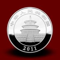 1000 g, Srebrni Kitajski panda - 2011 s certifikatom / Chinese Panda Silver Coin