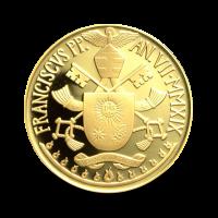 30 g, zlatnik Pontifikat papeža Frančiška - Drugi vatikanski koncil, Luč narodov , 2018