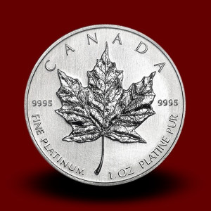 31,15 g, Platinasti Kanadski javorjev list (rvc)