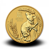 1,5710 g, Australian Lunar Gold Coin - Year of the Mouse 2020