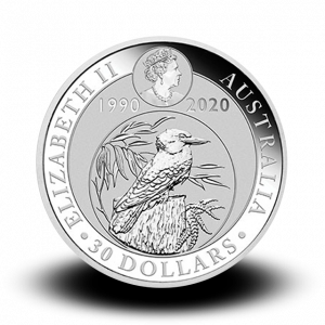 311,347 g, Australian Kookaburra Silver Coin
