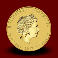 31,162 g, Australian Lunar Gold Coin - Year of Rooster (2017)