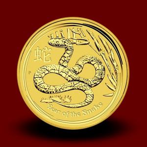 15,594 g, Australian Lunar Gold Coin - snake (2013)