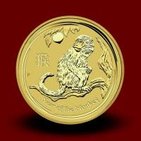 3,133 g, Australian Lunar Gold Coin - Year of Monkey 2016