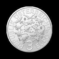 16 g Ankilozaver- 3 € zbirateljski kovanec (2020), serija Superzavri