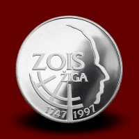 15 g, 250th anniversary of the birth of Ziga Zois (1997) **
