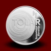 15 g, 10th anniversary of the Republic of Slovenia first currency - tolar (2001) **
