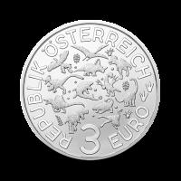 16 g Tiranozaver Rex- 3 € zbirateljski kovanec (2020), serija Superzavri