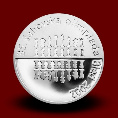 15 g, 35. šahovska olimpijada Bled 2002/On occasion of the 35th Chess olympiad Bled, Slovenia 2002 **