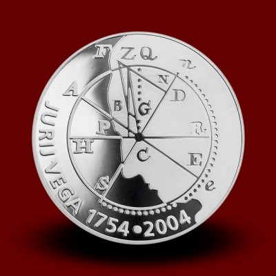 15 g, 250. obletnica rojstva Jurija Vege/250th anniversary of the Birth of Jurij Vega (2004) **