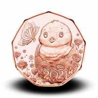 8,9 g Mali čudež - velikokonočni kovanec iz brona 2021