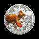 16 g, Deinonychus antirrhopus - 3 € zbirateljski kovanec (2021), serija Superzavri