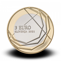3 € kovanec 300. obletnica Škofjeloškega pasijona (2021)/ PROOF  / MORO za BS