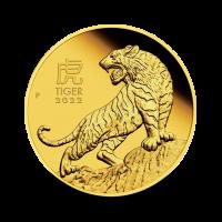 7,8070 g, Zlati lunin koledar - tiger 2022