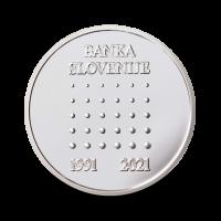 15 g srebrna medalja, 30. obletnica ustanovitve Banke Sovenije 2021