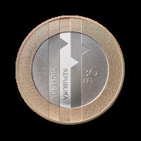 3 € kovanec 30. obletnica plebiscita o samostojnosti in neodvisnosti RS (2020) / PROOF
