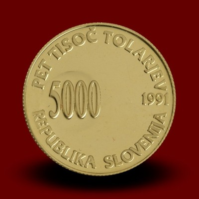 7 g, Prva obletnica plebiscita / First anniversary of independence / 1991 **