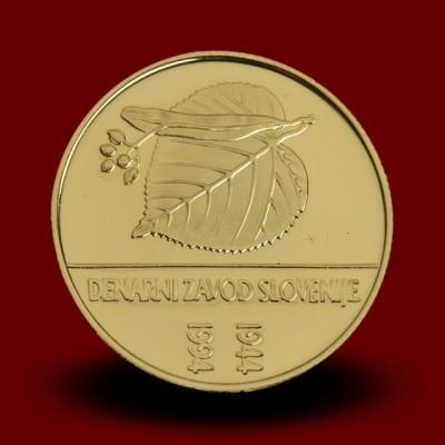7 g, 50-letnica ustanovitve Denarnega zavoda Slovenije / 50th anniversary of the founding of the Monetary Institute / 1994 **