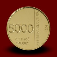 7 g, 50-letnica ustanovitve Denarnega zavoda Slovenije / 50th anniversary of the founding of the Monetary Institute / 1994 **