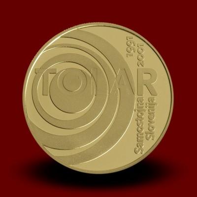 7 g, 10-obletnica Republike Slovenije in tolarja / 10th anniversary of the Republic of Slovenia first currency - tolar / 2001 **