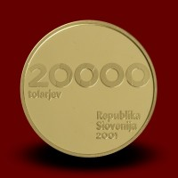 7 g, 10-obletnica Republike Slovenije in tolarja / 10th anniversary of the Republic of Slovenia first currency - tolar / 2001 **