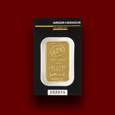 20 g, Zlata palica / Gold Bar