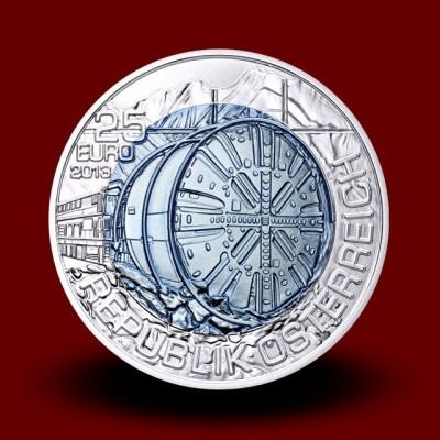 16,5 g (Ag/Nb) - Gradnja predorov / Tunnelbau (2013), bimetalni kovanec