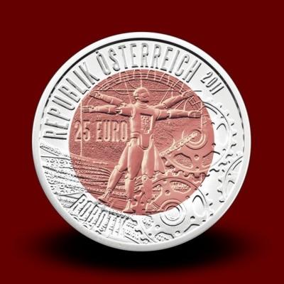 16,5 g (Ag/Nb) - Robotika / Robotik (2011), bimetalni kovanec