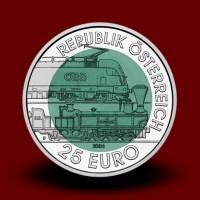 16,5 g (Ag/Nb) - 150 let Semmerinške železnice / 150 Jahre Semmeringbahn (2004), bimetalni kovanec** - RAZPRODANO