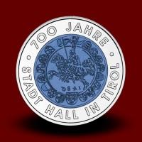 16,5 g (Ag/Nb) - 700 let mestne hiše na Tirolskem / 700 Jahre Stadt Hall in Tirol (2003), bimetalni kovanec** - RAZPRODANO