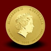 Zlati Lunin koledar PODGANA 1 OZ / Gold Lunar RAT / Lunare Goldmünze RATTE