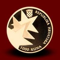 7 g, Zlati kovanec Republika Hrvaška članica EU / Zlatni kovani novac Republika Hrvatska članica EU - NOVO