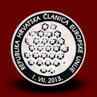 20 g, Srebrni kovanec Republika Hrvaška članica EU