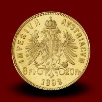 6,46 g, Gold coin / 8 Florin / restrike