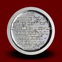 33,63 g, Srebrna medalja Pliberk in križev pot