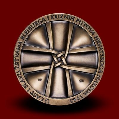 Medalja iz medenine Pliberk in križev pot