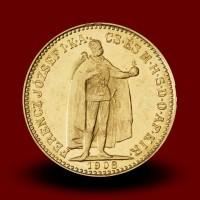 3,39 g, Gold coin / 10 Crown / restrike