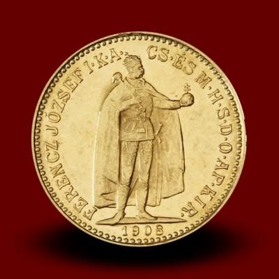 3,39 g, Zlati kovanec / 10 avstrijskih - madžarskih kron