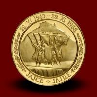 Priložnostni zlati kovanec AVNOJ 500 DIN 1968