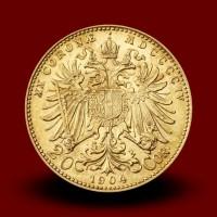 6,77 g, Zlati kovanec / 20 avstrijskih - madžarskih kron