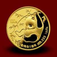 Zlati Kitajski panda 1 OZ / Chinese gold panda coin / China Panda Goldmünze - NOVO