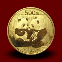 Zlati Kitajski panda 1 OZ / Chinese gold panda coin / China Panda Goldmünze