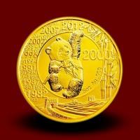 Jubilejni Zlati Kitajski panda 30 let-5 OZ / 30 anniversary of Chinese gold panda / 30 Jahre Gold Panda