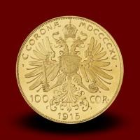 33,90 g, Gold coin / 100 Crown / restrike