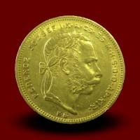 Zlati kovanec 8 madžarskih Goldinarjev / 8 Hungarian gulden gold coin / 8 Ungarische Gulden Goldmünze