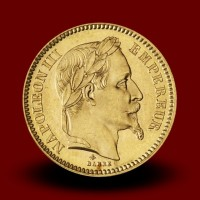 6,46 g, Zlati kovanec / 20 Frfs Napoleon III
